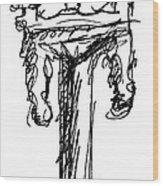 Candelabrum Sketch Wood Print
