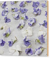 Candied Violets Wood Print