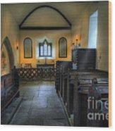 Candle Church Wood Print