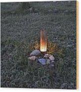 Candle Glow Wood Print