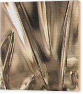 Candle Holder 3 Wood Print