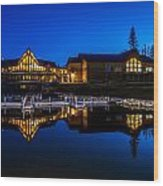 Candle Lake Golf Resort Wood Print by Gerald Murray Photography