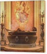 Candle Lit Bath Wood Print