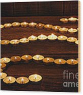 Candle Path Wood Print by Olivier Le Queinec