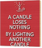 Candle Red Wood Print
