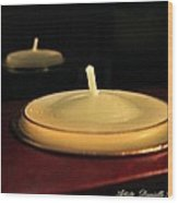 Candles And Relaxation Wood Print