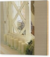 Candles And Wicker And Window Wood Print