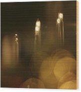 Candles At A Window Wood Print