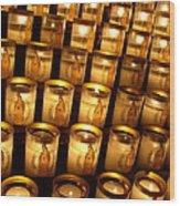 Candles Of Cathedrale Notre Dame De Paris Wood Print
