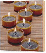 Candles Wood Print by Olivier Le Queinec