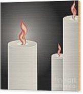 Candles Wood Print