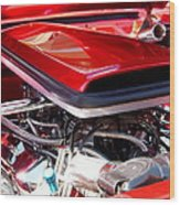 Candy Apple Red Horsepower - Ford Racing Engine Wood Print