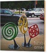 Candy Bike Rack In Lomoish Wood Print