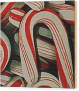 Candy Cane Wood Print