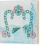 Candy Cane Christmas 2 Wood Print