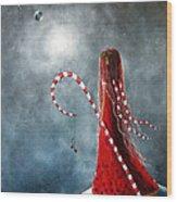 Candy Cane Fairy By Shawna Erback Wood Print