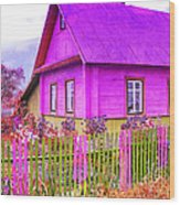 Candy Cottage - Featured In Comfortable Art Group Wood Print
