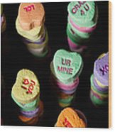 Candy Heart Towers Wood Print