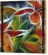 Candy Lily Fractal Triptych Wood Print