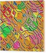 Candy - Lolly Pop Abstract  Wood Print