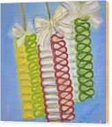 Candy Ribbon  Wood Print