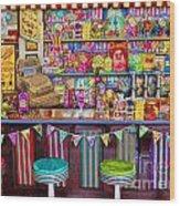 Candy Shop Wood Print