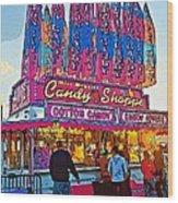 Candy Shoppe Line Art Wood Print