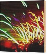 Candy Stripe Fireworks Wood Print