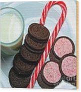 Candycane  Cookies - Milk - Cookies Wood Print