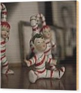 Candycane Kids Wood Print