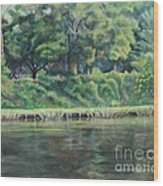 Cane River Wood Print