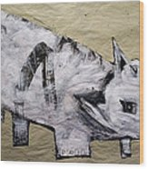Canis Et Sidera Wood Print