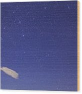 Canis Major Over Death Valley, Usa Wood Print