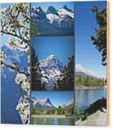 Canmore Alberta Wood Print