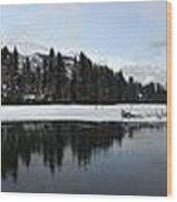 Winter Mountain Calm - Canmore, Alberta Wood Print