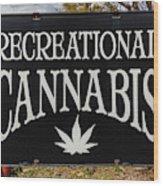 Cannabis Marijuana Store In Ridgway Wood Print