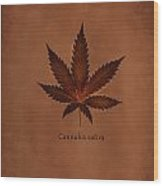 Cannabis Sativa Phone Case Wood Print
