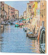 Cannareggio Canal Venice Wood Print