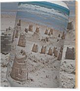 Canned Castles Wood Print