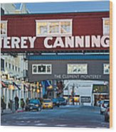 Cannery Row Area At Dawn, Monterey Wood Print