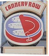 Cannery Row Directory At The Monterey Bay Aquarium California 5d25020 Wood Print