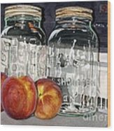 Canning Time Wood Print by Barbara Jewell