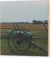 Cannon At Gettysburg Wood Print