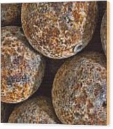 Cannon Balls Wood Print