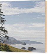 Cannon Beach At Ecola State Park Wood Print