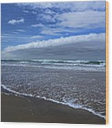 Cannon Beach Surf And Storm Wood Print