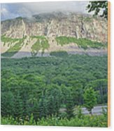 Cannon Cliff - Franconia Notch State Park New Hampshire Usa  Wood Print