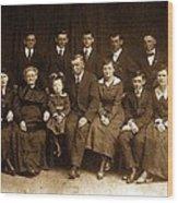 Cannon Family Portrait Circa 1912 Wood Print