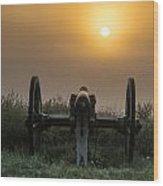 Cannon On Cemetery Hill Gettysburg Wood Print by John Greim