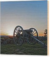 Cannon On Cemetery Ridge Gettysburg Wood Print